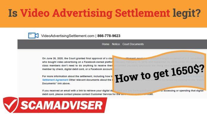 Video Advertising Settlement