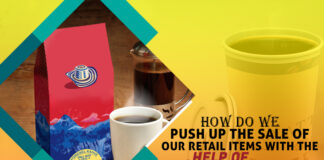 How do we Push up the Sale of our Retail items with the help of Coffee Boxes?